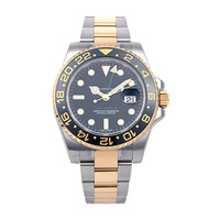 New Luxury Mens Watch Mechanical Watch 40mm 18kt Gold and Stainless Steel GMT Master II CERAMIC - 116713