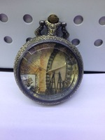 Vintage hotsale BF010 D4.5cm antique Ferris wheel pocket watch with chain FREE SHIPPING