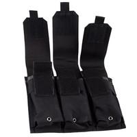 Molle Tactical Triple M4 5.56mm Mag Magazine Pouch Black Bag For Pistol Handgun AR