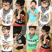 Min.  Qty any 2pcs in shop SZ100~140 Cute Child Tops tees boys girls Cartoon Long Sleeve T shirt  Children T-Shirts