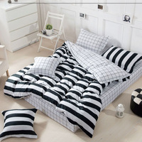Special price Plants long -staple cotton  bedding sets  Fashion 4pcs  bed sets full /queen size Brief Style