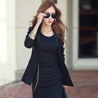 Slim Waist Roupas Femininas Autumn Fashion Body Black Basic Dress Leather Patchwork Long Sleeve Elegant Sexy Cotton Dresses 423