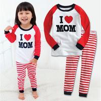 2 pcs set baby boy girl kids sleepwear suits toddler cartoon pajama Retail Children 100% cotton long sleeve pajamas sets