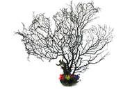 1 x Big black sea fan fish tank aquarium decoration, sea coral ornament TR-02