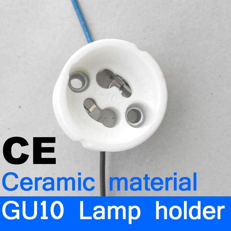 GU10 Lamp bases lamp holder lampholder ceramic base CE free shipping(China (Mainland))