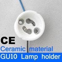 GU10 Lamp bases lamp holder lampholder ceramic base CE free shipping
