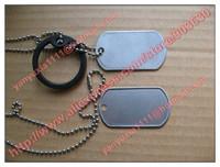 Military army stainless steel Dog Tags 100sets/Lot(1pcs long chain +1pcs short chiain+2pcs dog tag +2pcs Silence)