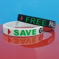 Palestine Flag silicone bracelet,cheap price,free shipping