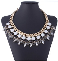 Fashion brand jewelry new arrival 2014 Europe and America mental chain punk rivet short pendant&necklace for women