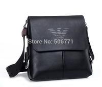 2014 New! Famous Brand Male Casual Shoulder Bag Male Genuine and PU Leather Shoulder Bag Cowhide Shoulder Messenger Bag MB133-1