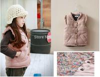 Retail Brand Child Outerwear, baby waistcoat Winter High quality children cotton vest Kids girls parka vest warm coat
