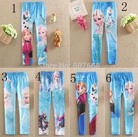 120pcs/lot Frozen Elsa Anna girls children leggings long pants trousers 6style can choose