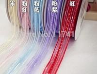 "9 mm  3/8""  gold strip gift pull bow ribbon organza gift bow"