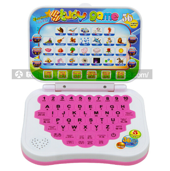 3PCS/LOTMix DropShipping English Learning Machine Music Educational Toy Children Computer Laptop For Children Kids Birthday Gift(China (Mainland))