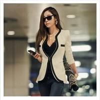2014 winter Hitz casual Slim black and white suit