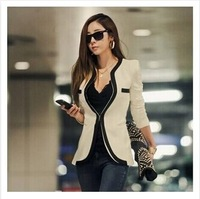The 2014 Novelty Jackets jackets women freedom like autumn thin wave V neckline dress suit the last button women
