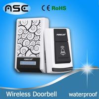 Forecum 5 Waterproof Smart LED Digital Wireless Remote Control 100M Range Single Receiver Doorbell Door Bell