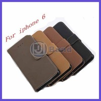 """Wallet Flip Genuine Leather Case For iPhone 6 4.7"""" Stand Cover"""