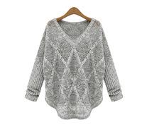 New women's spring 2014 European style Hollow V-neck pullover sweater female