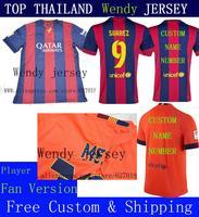 A+++ 2014 2015 Thailand Futbol Home 14 15 Club Thai Soccer Jersey Men Shirt Camiseta Suarez Rakitic