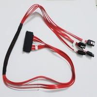 High Quality 85cm Internal SAS 32Pin SFF-8484 to 7Pin 4 SATA Data Cable For SAS8408E 5/6I