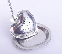 Free shipping! 5pcs/ lot -Heart style Tea Strainer-Stainless Steel Tea Bags -Infusers-Balls-Mug Tea Device/set
