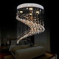 Free shipping New Modern spiral design flush mount K9 crystal lighting chandelier lustre cristal home lights Dia50*H55cm