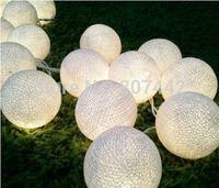 35 Balls/Set Cotton Balls String Lights/Fairy/Lamp White Handmade For Home/Patio/Christmas Decoration/Lighting, CE/GS/SAA/UL