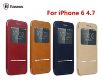Original Baseus Terse Series View Leather Case For iPhone 6,Support smart answer Leather Case For iPhone 6 4.7 inch