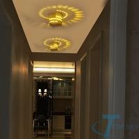 Modern Aisle Bedroom Corridor Porch Background Light Spiral Shape LED Light Aluminum Wall Lamp Luminous Lamps
