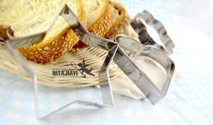 Aço star cardíacos inoxidável Tools circular em forma de sugarcraft decorar bolos Biscoitos Cortador de Massa de Moldes()