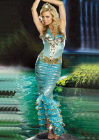 Halloween Cosplay  Costumes For Women  Adult  Mermaid Costume  Fancy Dress  Carnival Outfit For Adult Women Dress Up