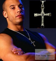 2014 new hot sale pendant wholesale fashion jewelry fast & furious toretto classic style cross necklace men