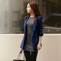 2014 new winter women coat jacket slim long sleeve fashion woman clothes Q097