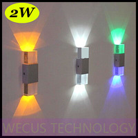 (WECUS) free shipping, creative LED wall lamp, modern minimalist bedroom / living room wall lamp, 2W, XJ-BD-1125