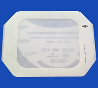 10pc 10cm*12cm pu film paper frame transparent pu film dressings medical waterproof adhesive wound dressing surgical dressing
