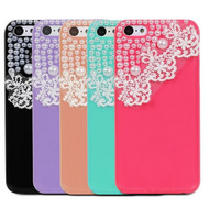 GEM-LACE Series 3D Bling Lace Design Case for Apple iPhone 5C