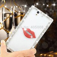 For Sony Xperia Z L36h Z1 L39H Luxury Diamond Bling Case Cover For Sony Xperia Z2 D6503 For Sony Xperia C S39h Free Shipping