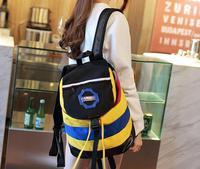 2014 New Hot Sale Women's Rainbow Fringe Travel School Bag Hiking Backpacks Casual Canvas  Fashion Designer Mochila Feminina
