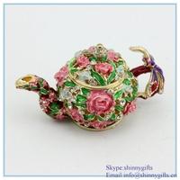 Metal materials dragonfly teapot shape custom fashion jewelry box-cheap jewelry suit box