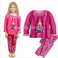 frozen clothing set for baby kids girls children conjuntos pajamas cotton sets age 2-7 roupa infantil
