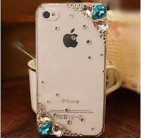 2014 New Crystal rhinestones Silver Flower Cover diamond case For Xiaomi M1/M1S M2/M2S M2A Mi3 Mi4