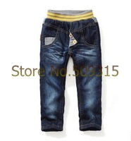 Wholesale High quality child winter jeans brand winter thick cashmere kids Boys baby pants children jeans 5pcs/lot free shipping