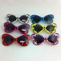 Free Shipping butterfly shape kids sunglasses children brand designer 2014 luxury mirror sunglasses childrens party decoration