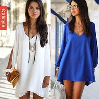 Wholesale/Retail Ctrlstyle  V-neck Hollow Long Sleeve Blusas Femininas Chiffon 2014 Women Blouse+Free Shipping Dropship