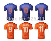 Calidad tailandesa 2014 World Cup Nertherland Holanda Soccer jersey de futbol Camiseta de futbol Jersey Uniform