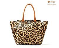 2014 New Hot Sale Women Leopard Rivet Brand Messenger Bags Shoulder Bag Handbag Fashion Unique Vintage Punk Design