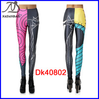 woman leggins New 2014 Fashion Women Leggings Red and Black Stretchy Fitness Yoga Pants Black Milk Casual Sport Leggings DK40802