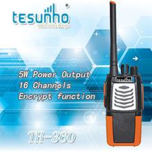 2pcs free shipping TH-360 uhf 5w voice encryption wireless handheld 2 way radio
