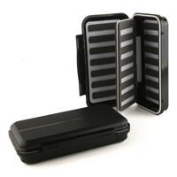 Set of 2 CFS black Large 192*108*40mm Fly fishing box with a Swingleaf slit foam insert Waterproof fly box free shipping